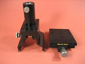 Melles Griot Optical Mounting Bracket And Pole Clamp