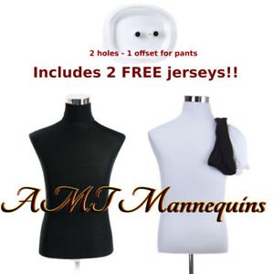 Male Torso stand Mannequin Dress Form 2covers White black Torso mh bh102