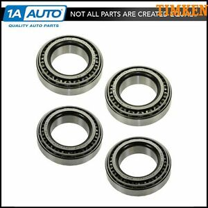Timken Bearing Race Front Inner Outer Set Of 4 For Chevy Dodge Ford Gmc Jeep