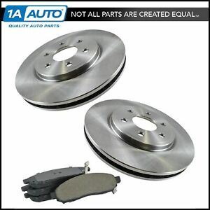Nakamoto Front Ceramic Brake Pads 2 Rotors Set For Frontier Pathfinder Xterra