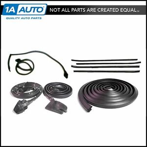 Rubber Door Roofrail Trunk Window Sweep Weatherstrip Seal Kit For 70 81 Camaro