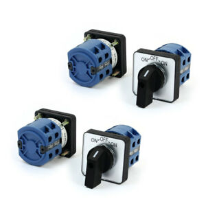 4 Pcs Szw26 25b 660v 25a 8 Screw Terminal 2 pole Rotary Changeover Switch