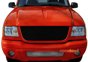For 01 03 Ford Ranger Edge Ranger 4wd Replacement Bumper 1pc Billet Grille