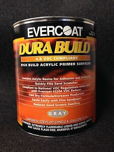 Evercoat High Build Acrylic Primer Surfacer gray Fe 2274 gallon