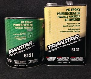 Transtar 2k Epoxy Primer Sealer Gray Tra 6131 6141 gallon