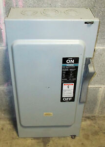 O Siemens 100 Amp Safety Switch Disconnect F353 600 Vac Fussible