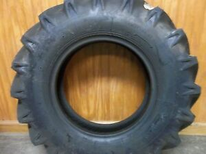 Two 750x16 750 16 Backhoe Deere Kubota 8 Ply R1 Bar Lug Tractor Tires W tubes