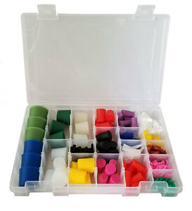 High Temp Silicone Plug Kit For Paint And Powder Coat 250 Pieces With Case