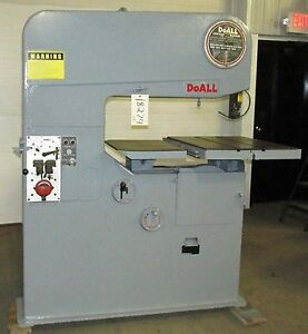 Doall Contourmatic Vertical Band Saw 36 3 Variable Speed 3 Phase E6 18274so