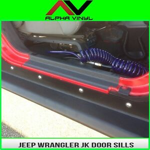 Door Sill Entry Guard Protection Fits 2 Door Jeep Wrangler Jk 07 18 Free Ship