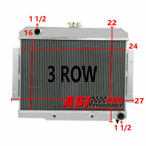 3 Row Aluminum Radiator For 1972 86 Jeep Cj Series W chevy Conversion Swap V8 At