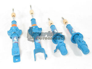 Tokico Hp Series Blue Shocks Struts Front Rear 88 91 Honda Civic Crx Ef New