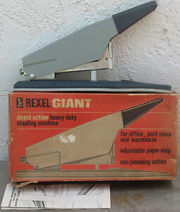 Vintage rexel giant no 66 Hd Staples stapler box Papers Made In England s10
