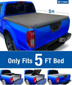 Fit 05 19 Nissan Frontier 09 14 Equator 5 Bed Tyger T3 Tri fold Tonneau Cover