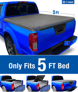 Fit 05 20 Nissan Frontier 09 14 Equator 5 Bed Tyger T3 Tri fold Tonneau Cover