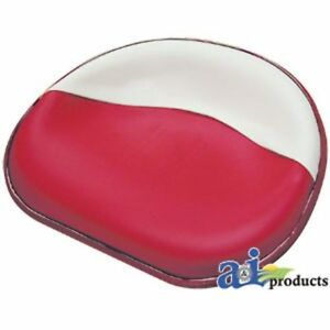 357518r92 17 Seat Pan Steel Red white Vinyl Fits Case ih a av b c cub