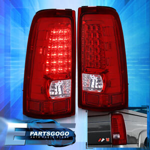 For 1999 2006 Chevy Silverado 1500 2500 Hd Led Tail Lights Rear Lamps Red Lens