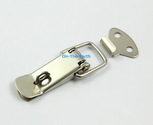 4 Box Chest Case Spring Loaded Stainless Steel Draw Toggle Latch Hasp
