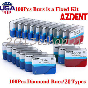 250pcs Dental Diamond Burs Drill Fg For High Speed Handpiece 150 Types To Choose