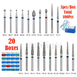 250pcs Azdent Dental Diamond Burs Drill Fg For High Speed Handpiece 150 Types