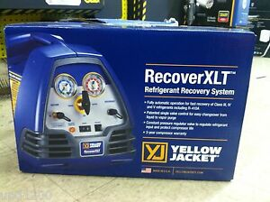 Yello Jacket Recover Xlt Refrigerant Recovery Machine 95760