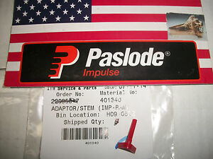 new Paslode Part 401340 Fuel Stem Adaptor red