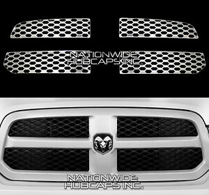 For Dodge Ram 1500 2013 2019 Chrome Snap On Grill Overlay Grille Covers Inserts