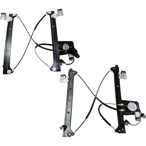 Power Window Regulator For 2004 2007 Chevrolet Silverado 1500 Set Of 2 Rear