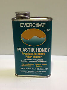 Evercoat 1249 Plastik Honey Premium Autobody Filler Thinner Pint