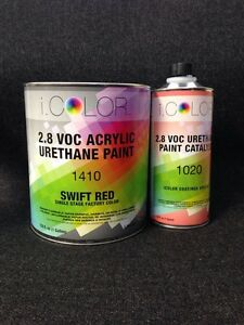 Red Gallon Kit Single Stage Acrylic Urethane Auto Paint Kit