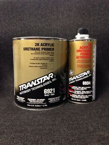 Transtar 6921 2k Acrylic Urethane High Build Primer Gray Gallon Kit