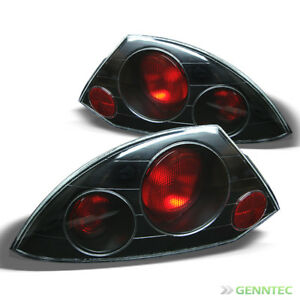 For 2000 2002 Mitsubishi Eclipse Blk Altezza Tail Lights Rear Brake Lamp Pair