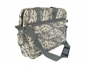 Deluxe Digital Gray Camouflage Portfolio Laptop Bag Case Tablet Messenger Bag