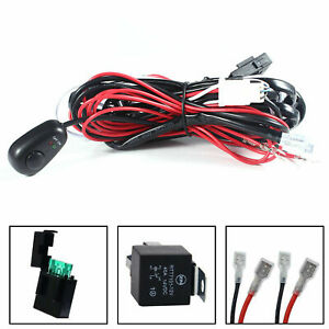 Heavy Relay Harness Wire Kit W Led On Off Switch For Fog Lights Hid Worklamp