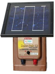Parmak Solar Powered Electric Fence Charger Magnum Solar pak 12 Mag12 sp 30 Mile