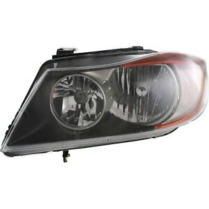 Halogen Headlight For 2007 2008 Bmw 328i Left W Bulb