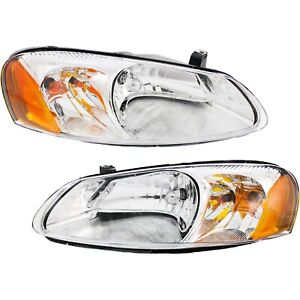 Headlight Set For 2001 2006 Dodge Stratus Driver And Passenger Side W Bulb