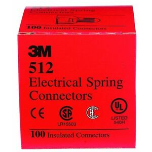 10 Pk 3m Red 20awg Thru 8awg Ranger Electrical Wire Connectors Nuts 100 box 512