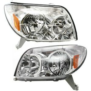 Headlight Set For 2003 2005 Toyota 4runner Left And Right Halogen With Bulb 2pc