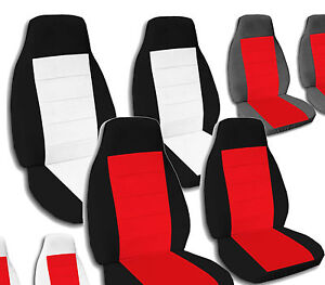 Twotone Bucket Seat Covers For A 2008 To 2014 Gmc Chevy Trucks
