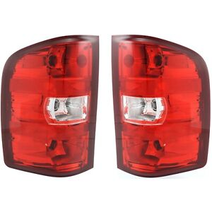 2007 2013 Replacement Tail Light Set For Chevy Silverado Pair W Bulb And Harness