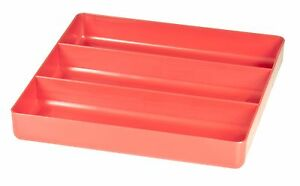 Ernst 5020 The Tray Junior Red 3 Compartment Tool Organizer