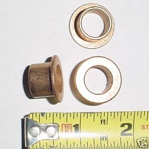 2 Ea Flanged Bronze Bushings 1 2 Id X 5 8 Od X 1 2 L