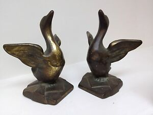 Art Deco Duck Bookends