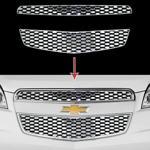2012 2015 Chevy Equinox Chrome Snap On Grille Overlay Front Grill Inserts Covers
