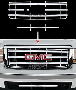 New 07 13 Gmc Sierra 1500 Chrome Snap On Grille Overlay Front Grill Cover Insert