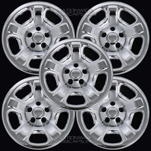 5 Chrome 02 07 Jeep Liberty 16 Wheel Skins Hub Caps Tire Covers Spare Steel Rim