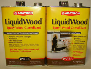 Abatron Liquidwood Epoxy Wood Consolidant 2 Gallons Kit Part A