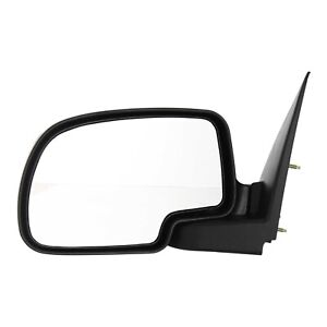 Manual Mirror For 1999 2006 Chevrolet Silverado 1500 Manual Folding Black Left