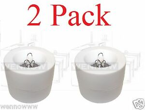 2 Pack White Magnetic Paper Clips Holder 50 Pc Silver Paper Clips